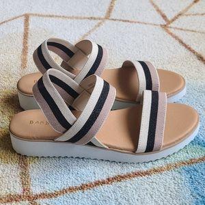 NWOT sporty stripe platform sandals